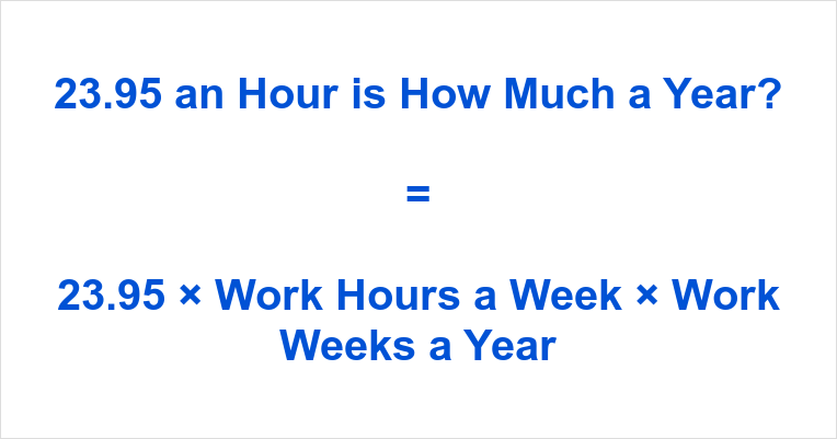 23.95 an Hour is how Much a Year