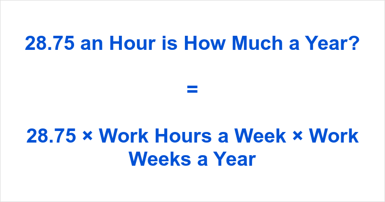 28.75 an Hour is how Much a Year