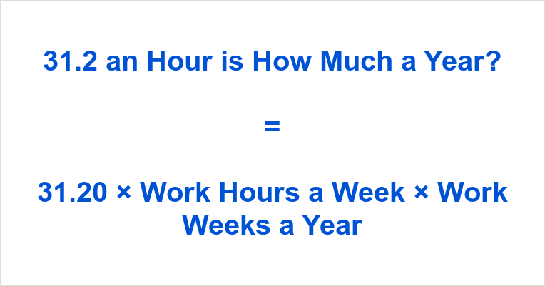 31.2 an Hour is how Much a Year