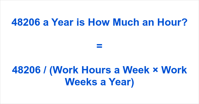 48206 a Year is how Much an Hour