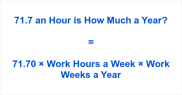 71.7 an Hour is how Much a Year